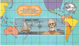 Samoa 1974 Upu Centenary William Willis S/s (sc 406a) photo