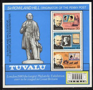 Tuvalu 124a Rowland Hill,  Stamp On Stamp photo
