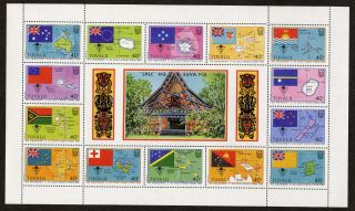 Tuvalu 388 South Pacific Forum,  Flags,  Maps photo