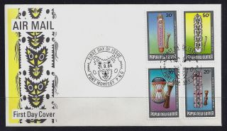 1984 Papua Guinea Ceremonial Shields First Day Cover photo