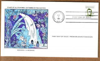 Fdc 1979 Micronesia - Louis Duperrey Explorer - Beautifull Waterfall Cover photo