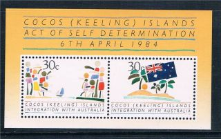 Cocos (keeling) Is 1984 Act Of Self Determination Sg Ms 125 photo