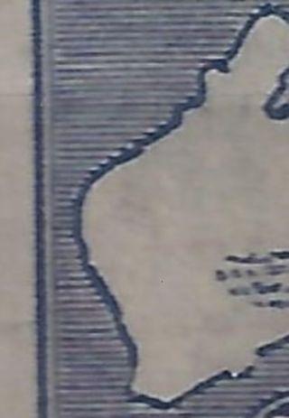 Australia Kangaroo 1915 2 1 /2d Indigo Sg 36 3rd Watermark Heavy Coastline photo