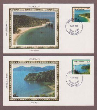 Zealand 850 - 853 Scenic Bays On 4 Fdcs photo