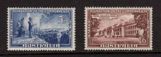 Australia 1951,  Sc 242,  243 (sg 243,  244) Commonwealth Foundation,  Mh photo
