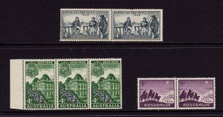 Australia 1959,  Sg 331,  332,  333,  Post Office,  Queensland Govt,  Muh photo