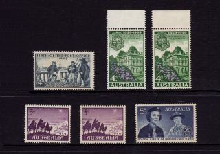 Australia 1959 - 1960,  Sg 331,  332,  333,  334,  Post Office,  Guiding,  Muh photo
