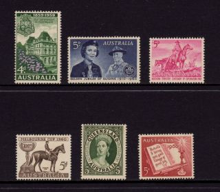 Australia 1959 - 1960,  Sg 332,  334,  335,  336,  337,  338 All Different,  Muh photo