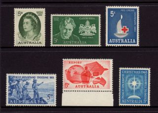 Australia 1962,  Sg 348,  350,  351,  352,  353,  361 Griffin Export Red Cross Muh photo