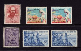 Australia 1962 - 1963,  Sg 342,  343,  345,  352 Stuart Mission Crossing,  Muh photo