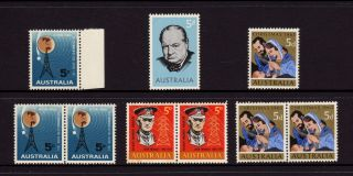 Australia 1965,  Sg 376,  377,  378,  381 Telecom Churchill Monash 5d,  Muh photo