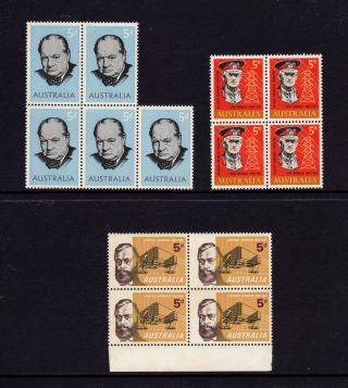 Australia 1965,  Sg 377,  378,  379 Churchill,  Monash,  Hargrave 5d,  Muh photo