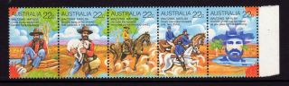 Australia 1980,  Sc 741,  Sg 742 - 746,  Waltzing Matilda Strip Of 5,  22c, photo