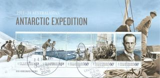 Australian Antarctic Territory Issue 2014 Expedition Min Sheet F. photo