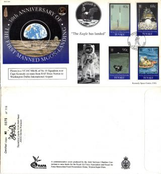 Tuvalu 1999 30th Anniversary Moon Landing Joint Services First Day Cover photo