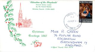 Zealand 3 October 1967 Christmas First Day Cover Wellington Fdi photo