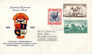 Zealand 1956 Southland Centenary First Day Cover Cds photo
