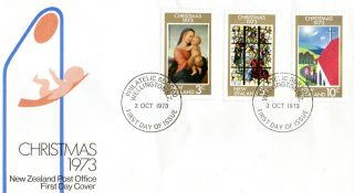 Zealand 3 October 1973 Christmas First Day Cover Wellington Fdi photo