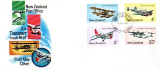 Zealand 5 June 1974 Air Transport First Day Cover Wellington Fdi photo