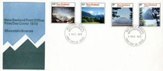 Zealand 5 December 1973 Mountain Scenes First Day Cover Wellington Fdi photo