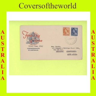 Australia 1954 Qeii 6½d & 2½d First Day Cover photo