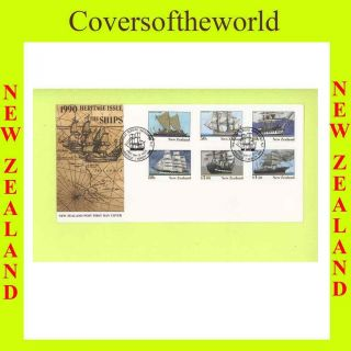 Zealand 1990 Heritage,  The Ships First Day Cover photo