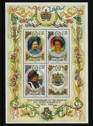 Cook Islands 1996 Royalty Royal Queens 70th Birthday photo
