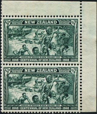 Zealand 1940 (kgvi) 1/2d Blue - Green Sg613 Cv £1.  00+ Mh Postage photo