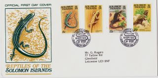 Solomon Islands : Reptiles Of The Islands First Day Cover (1979) photo