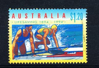 B497 Australia 1994 Sg1442 $1.  20 Lifeguards photo