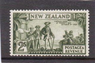 Zealand 1935 - 36 2sh Olive - Green Sg 568 L.  H. photo