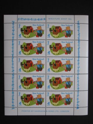 Zealand - Scott B93a - Min.  Sheet 10 - - Cat Val $17.  50 photo