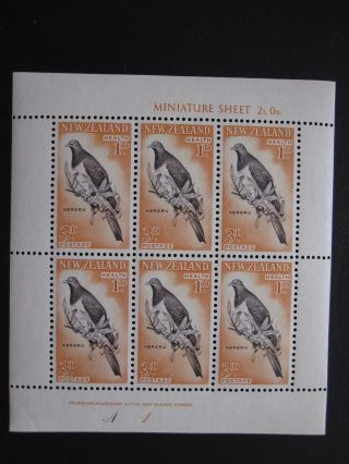 Zealand - Scott B59a - B60a - Min.  Sheet 6 - - Cat Val $30.  00 photo