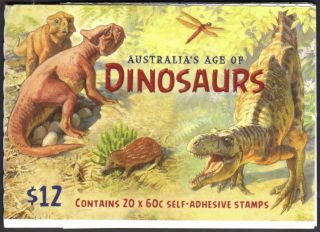 Australia Scott 3995a Complete Booklet - Dinosaurs (2013) photo