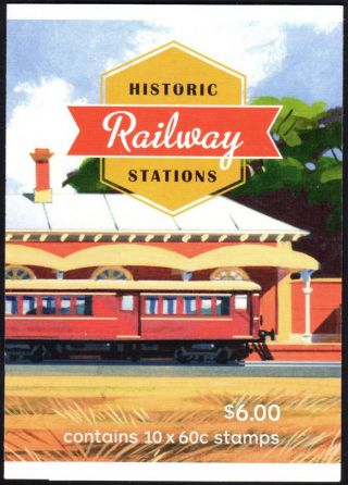 Australia Scott 4003b Complete Booklet - Historic Railroad Stations (2013) photo