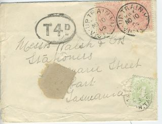Australia - - Up Train Cover From Victoria 1905 Has Postage Due photo