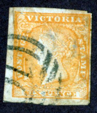 Victoria Sc 17 Qv 6d Orange 1854 - 58 Australia photo