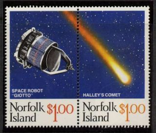 Norfolk Island 381 Halley ' S Comet,  Space photo