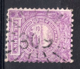 South Wales = 1d Mauve With A Fine `309` Starburst Cancel. photo