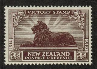 Zealand 168 1920 3d British Lion Sm Hr,  Fresh F/vf Cv$15.  00 photo