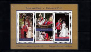 Penrhyn 2011 Royal Wedding 2v Compound M/s Prince William Kate Middleton photo