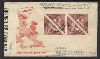 Zealand,  Sc Nos B22 (sg 637) On Censored Cover,  Oct 27,  1943 photo
