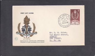 1961 Colombo Plan Issue Fdc - Wcs Cachet - Adelaide,  S.  Aust Jun 30 - 1961 photo