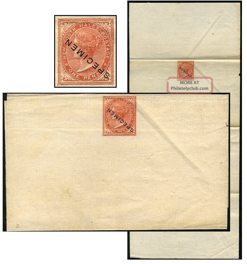 South Wales 1d Psw Unwmkd Hull Specimen Type Ii1 States & Territories photo