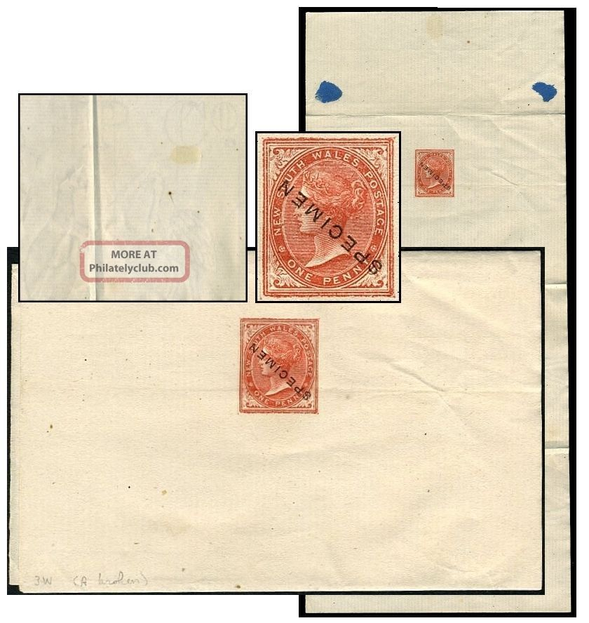 South Wales 1d Psw Full Ap & Co Wmk Hull Specimen Ii1 States & Territories photo