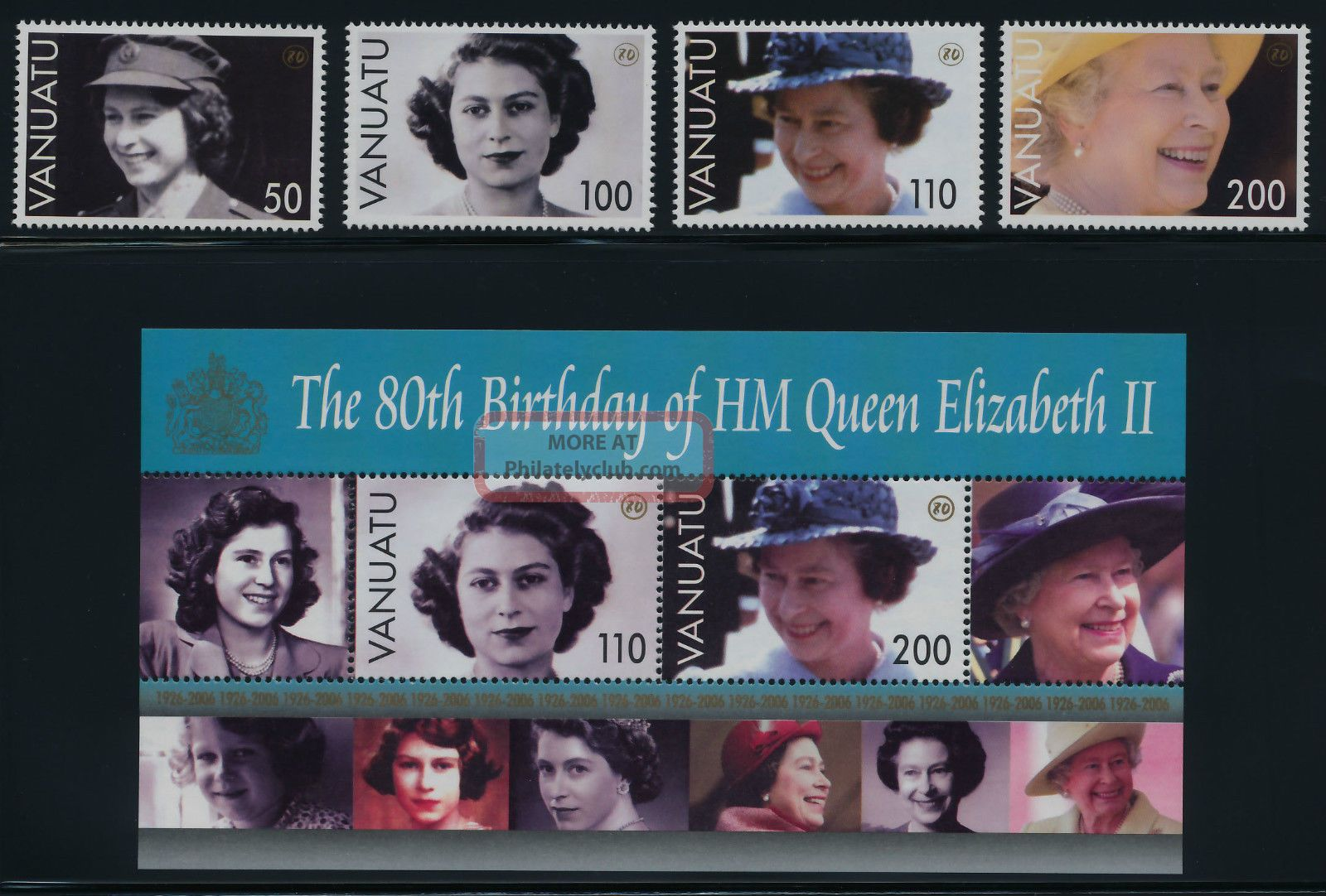 Vanuatu 880 - 4 Queen Elizabeth 80th Birthday Australia & Oceania photo