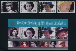 Vanuatu 880 - 4 Queen Elizabeth 80th Birthday photo