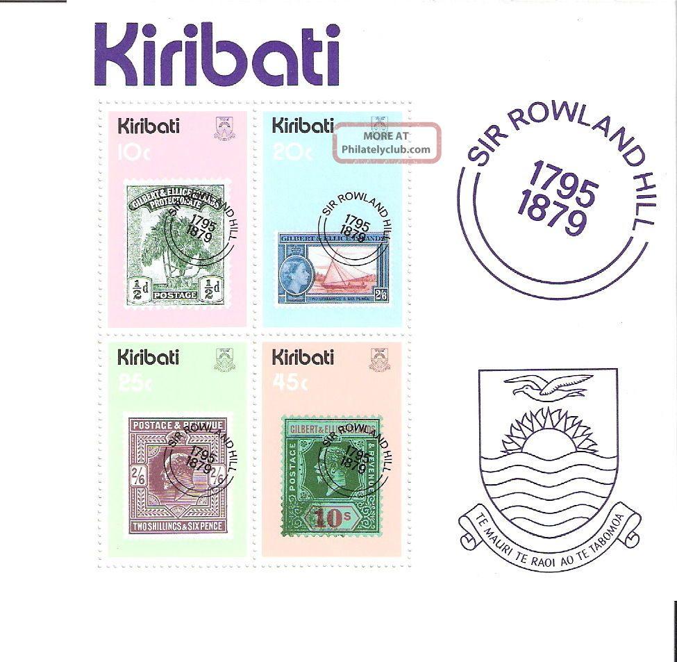 Kiribati 1979 Stamp On Stamp Rowland Hill S/s (sc 344a) Australia & Oceania photo