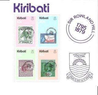 Kiribati 1979 Stamp On Stamp Rowland Hill S/s (sc 344a) photo