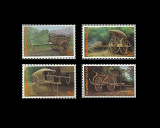 Thailand Stamp,  1992 1519 - 1522 Thai Heritage Conservation,  Two Wheels,  Transport photo